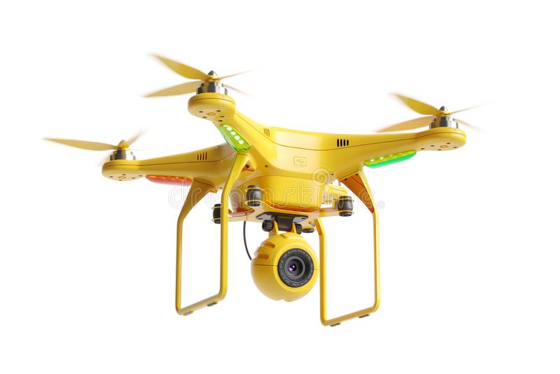 Abejón 3d del quadcopter del rescate stock de ilustración