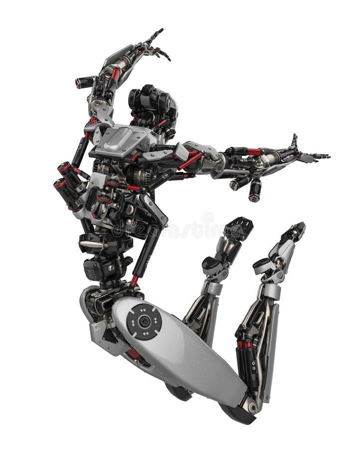 Abejón estupendo del robot mega en un fondo blanco libre illustration