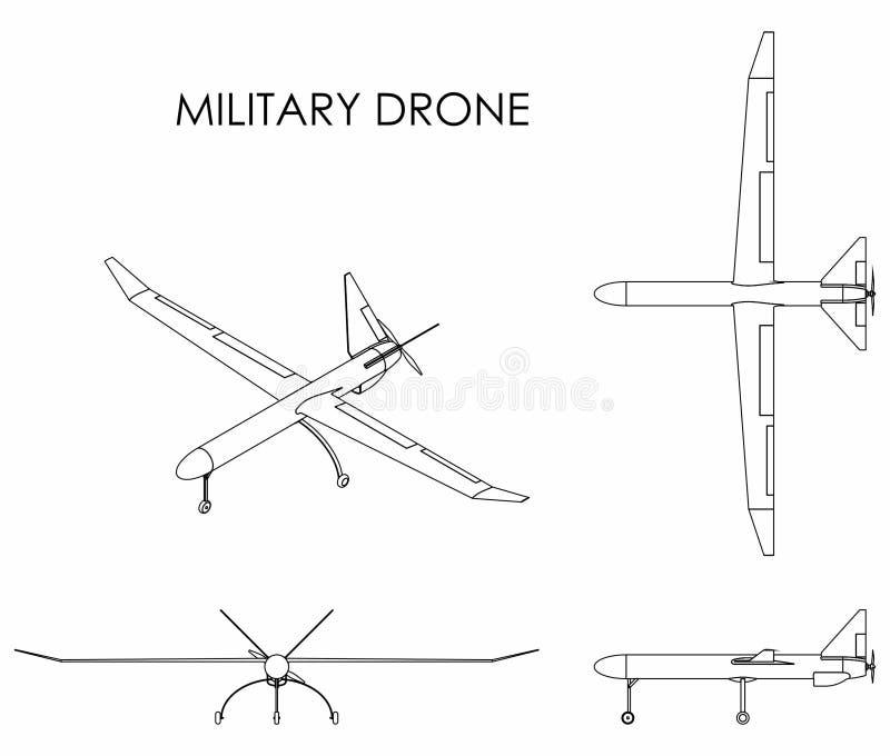 Abejón militar Esquema solamente libre illustration