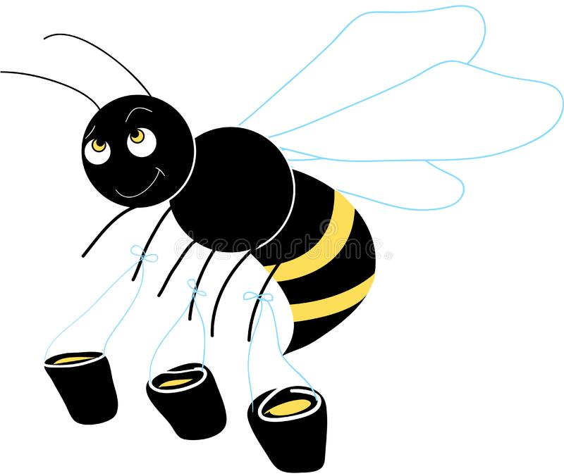 Honey Bee foto de archivo libre de regalías