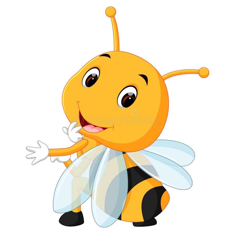 Abeja de la miel en un fondo blanco libre illustration
