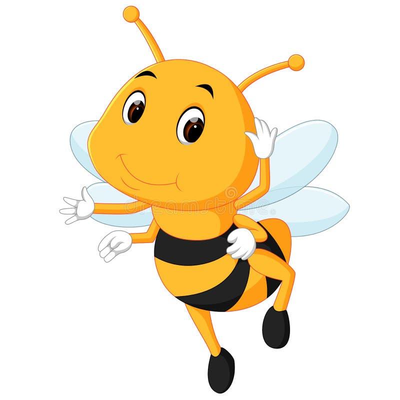 Abeja de la miel en un fondo blanco ilustración del vector