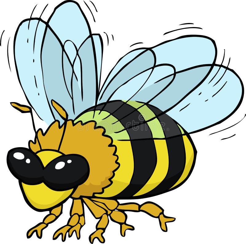 abeja del vuelo de la historieta libre illustration