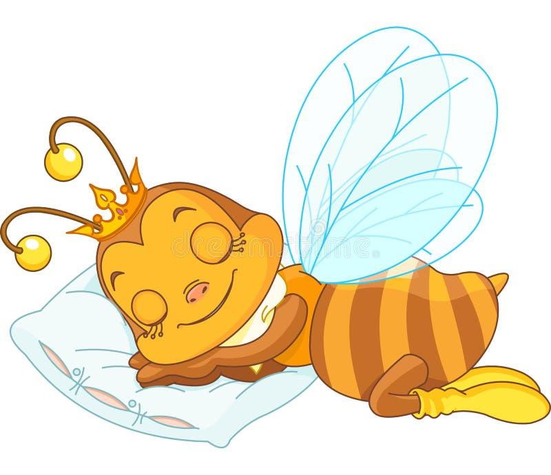 Abeja el dormir stock de ilustración