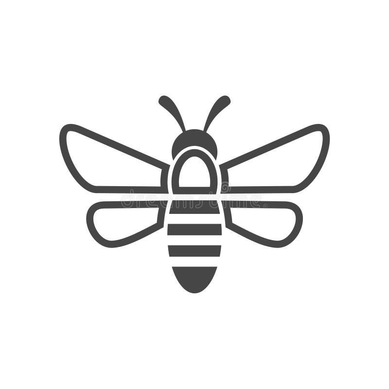 Abeja Logo Sign Icon stock de ilustración