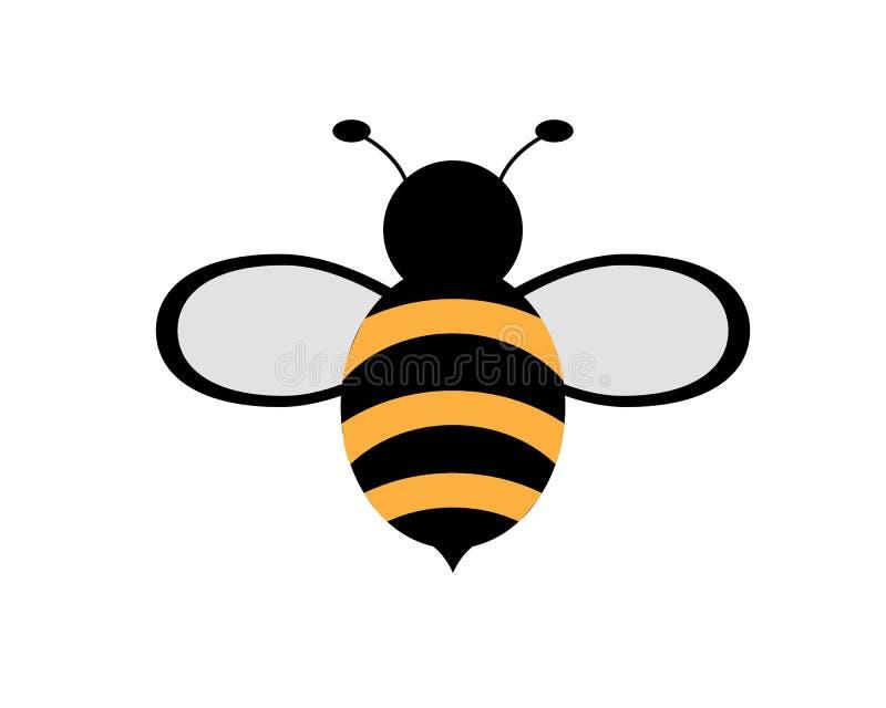 Abeja Logo Template stock de ilustración