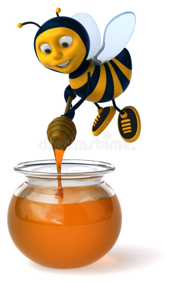 Abeja y miel libre illustration