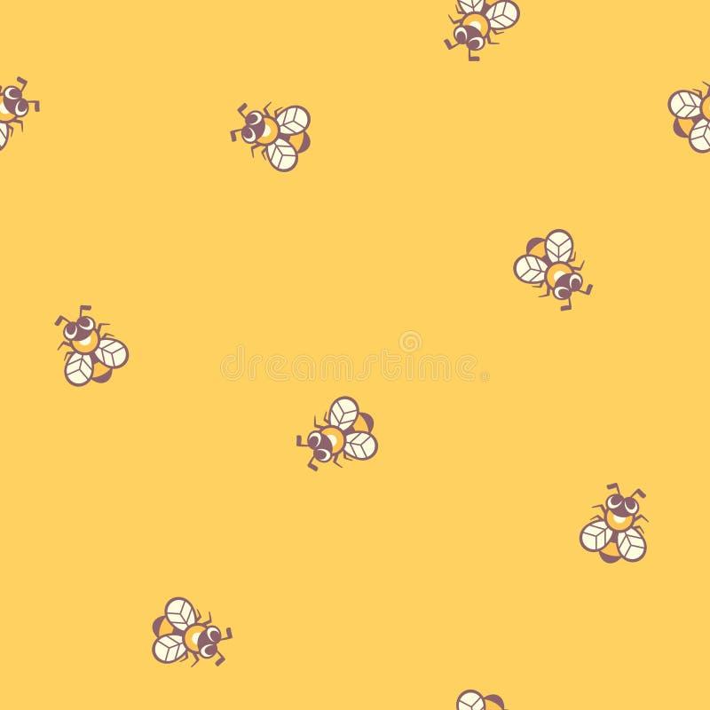 abejas Vector el modelo inconsútil ilustración del vector
