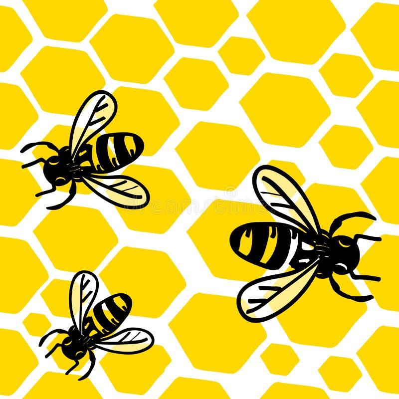 Abejas y miel libre illustration