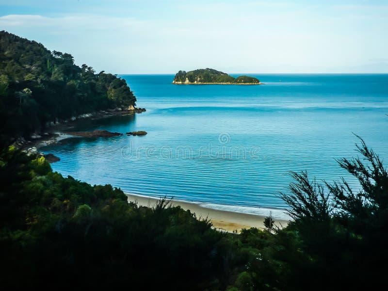 abel piękny wyspy krajobraz krajowy nowy parkowy południowy tasman Zealand Abel Park Narodowy Tasman, Południowa Wyspa zdjęcie stock