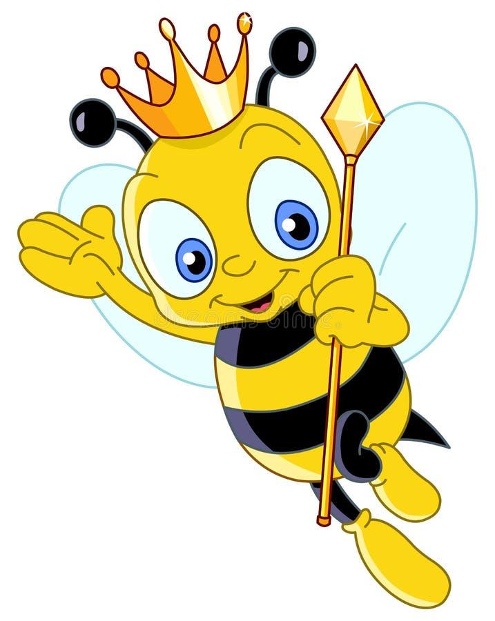 Abelha de rainha ilustração royalty free