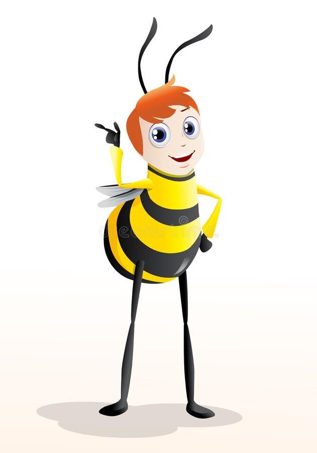 Abelha do mel ilustração stock