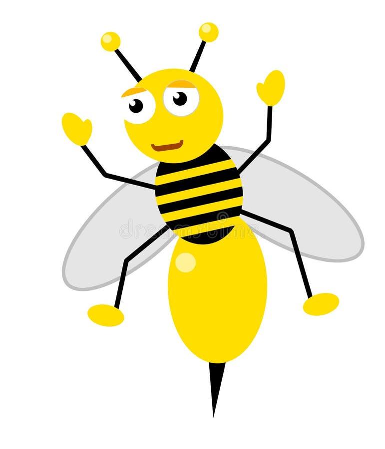 Abelha do mel feliz ilustração stock