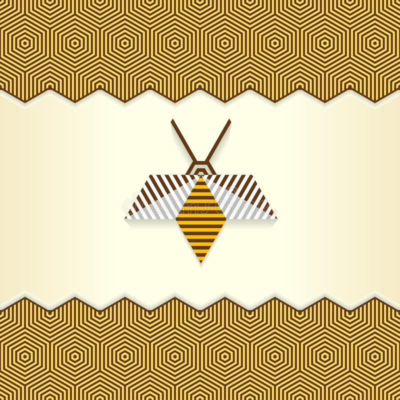 Abelha geométrica abstrata ilustração stock
