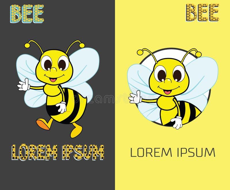 Abelha Logo Design Concept Ícone criativo abstrato da abelha ilustração royalty free