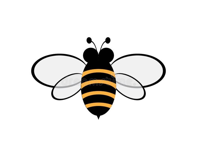 Abelha Logo Template ilustração stock
