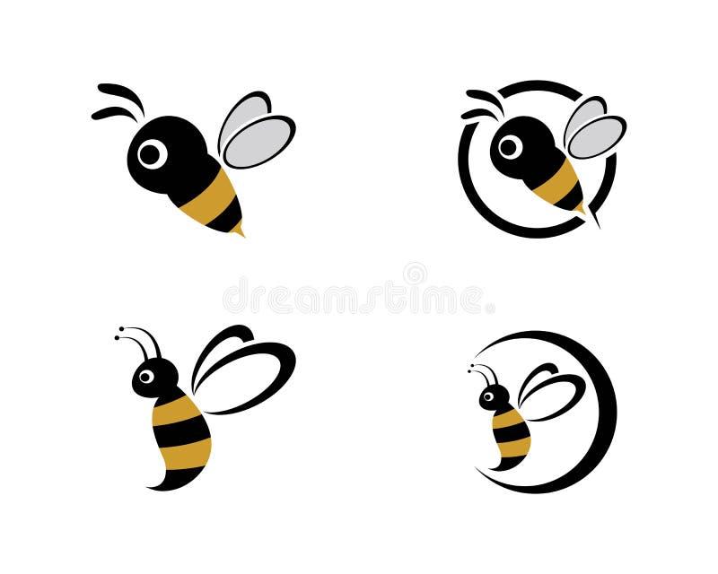 Abelha Logo Template ilustração royalty free