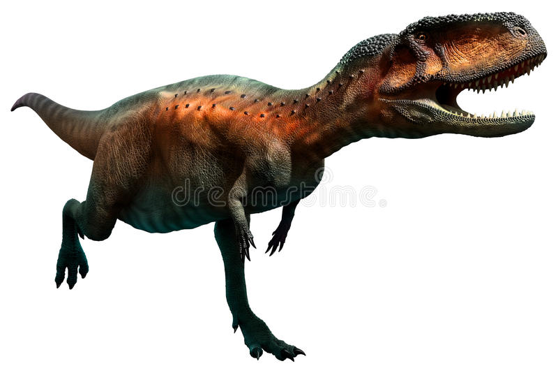 Abelisaurus ilustração do vetor