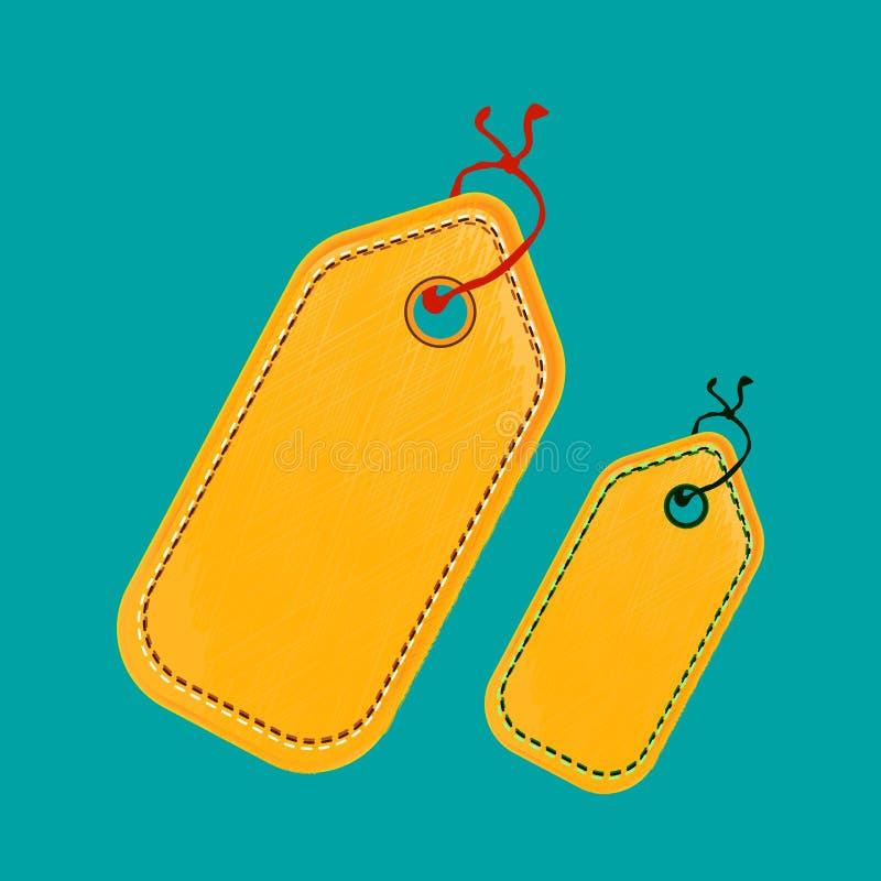 Abels com tamanhos do cordão ilustração royalty free