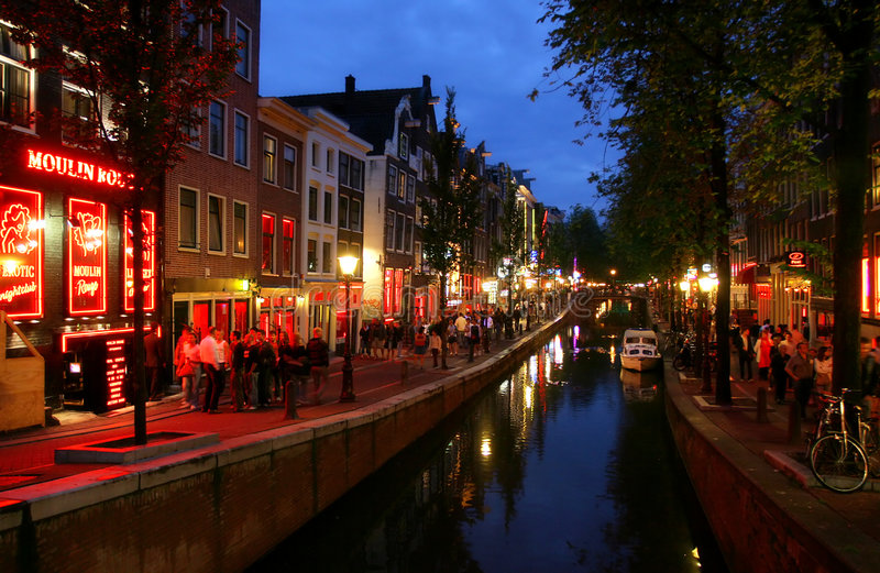Abend Amsterdam #2. lizenzfreie stockfotografie