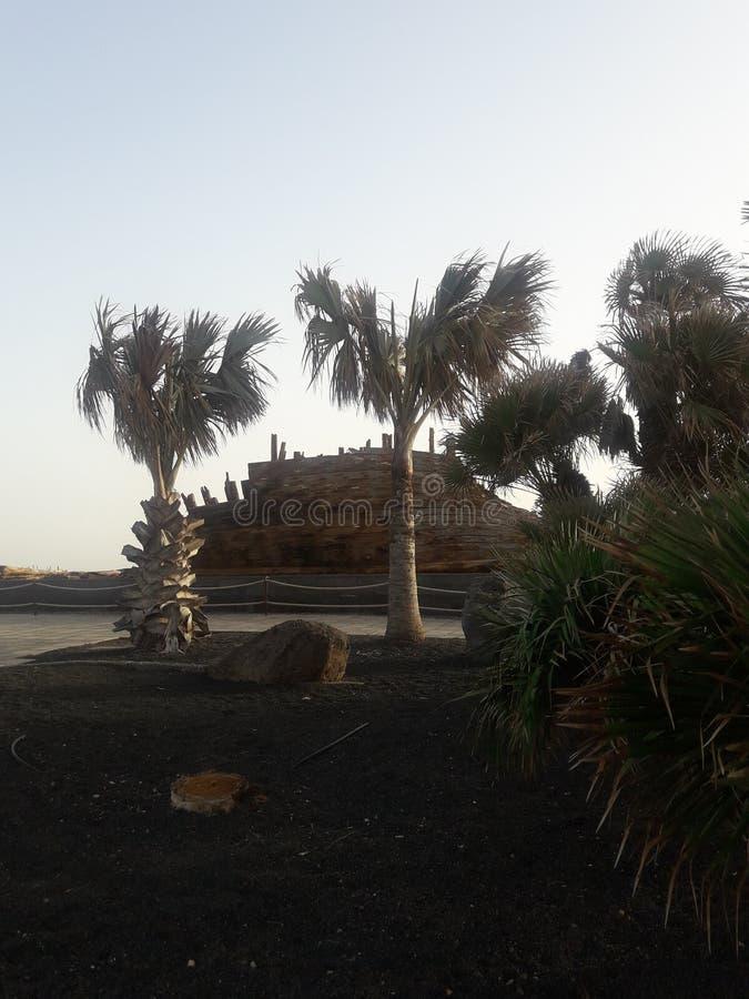 Abend in Arrecife stockbild