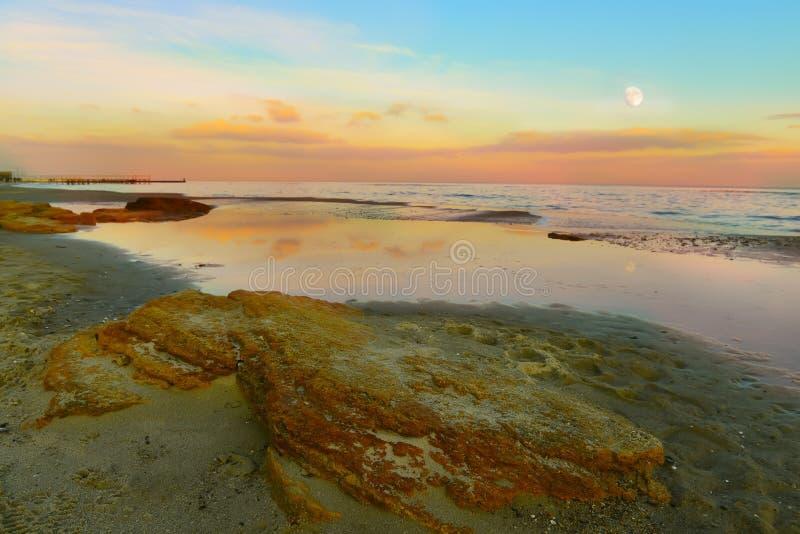 Abend auf dem Meer stockbild