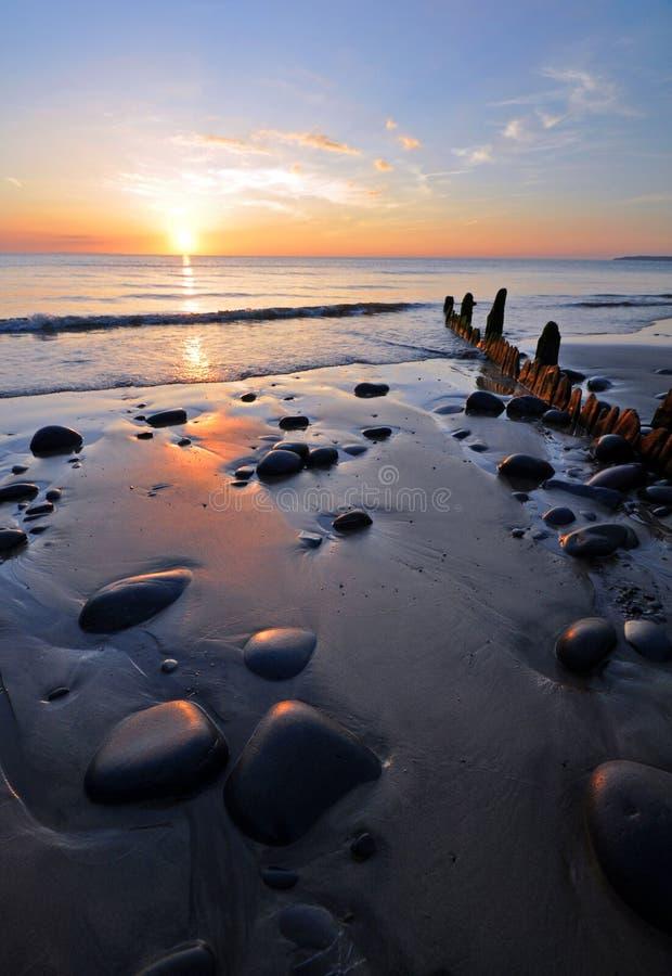 Abend auf der Küste stockfotografie