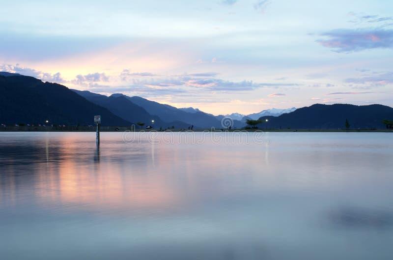 Abend auf Harrison See stockfoto