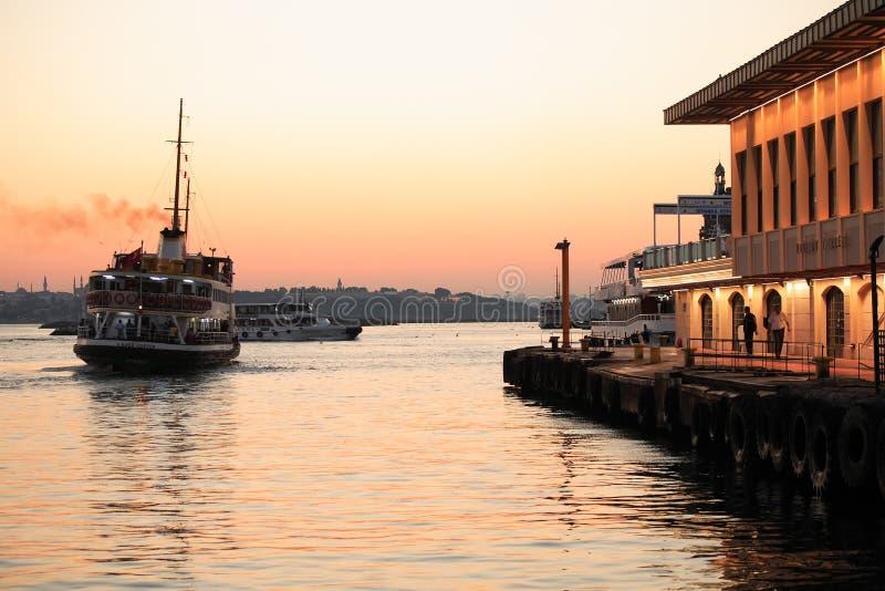 Abend Bosporus stockfotografie