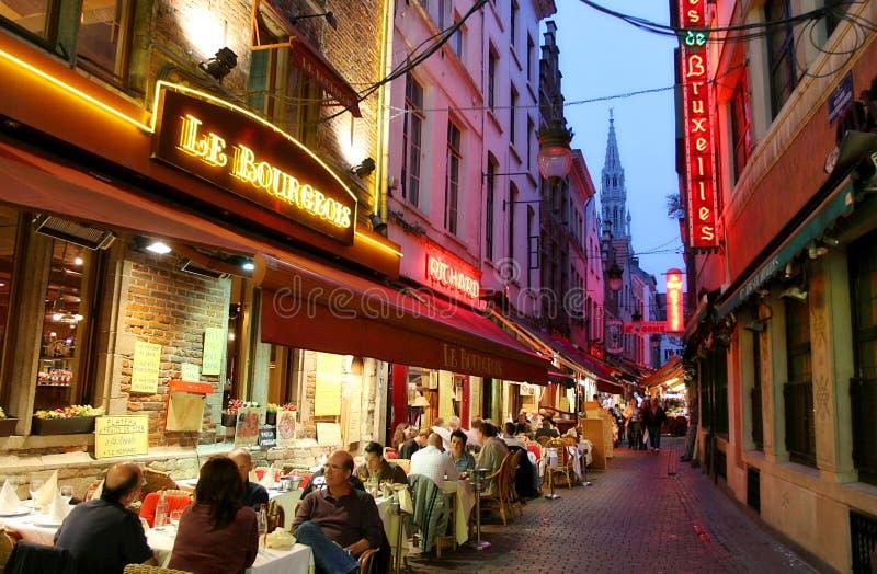 Abend Brüssel. lizenzfreie stockfotos