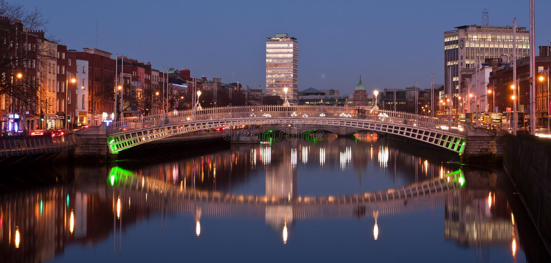 Abend in Dublin stockfotografie