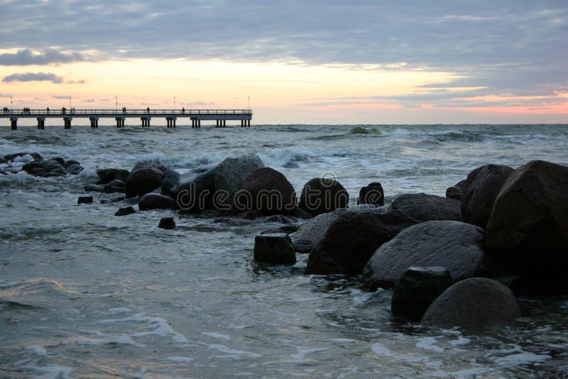 Abend durch das Meer II lizenzfreie stockbilder