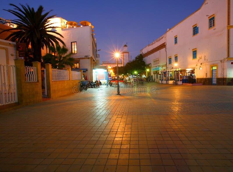 Abend in Essaouira stockfotos