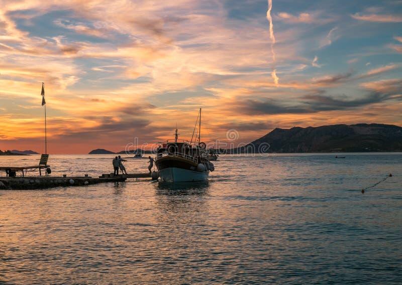 Abend in Kroatien E dubrovnik lizenzfreies stockfoto