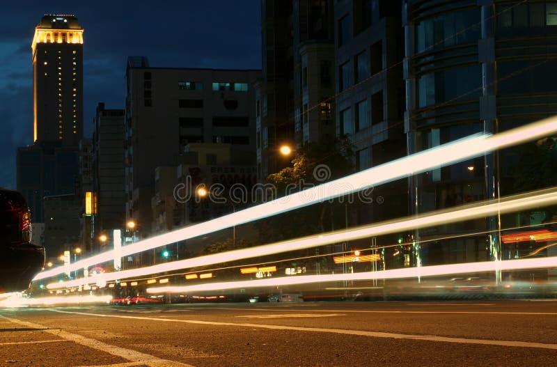 Abend-Verkehr lizenzfreie stockbilder