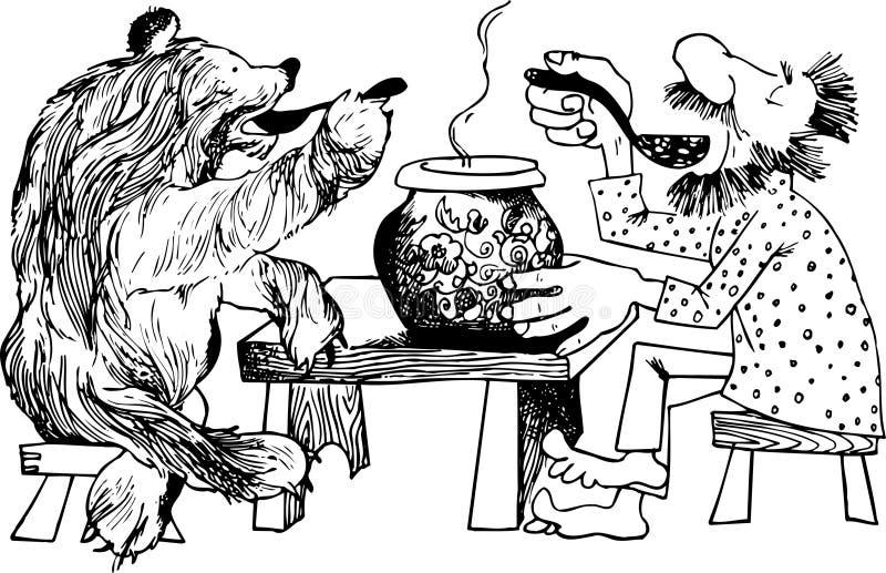 Abendessen Mit Bären Lizenzfreie Stockfotografie