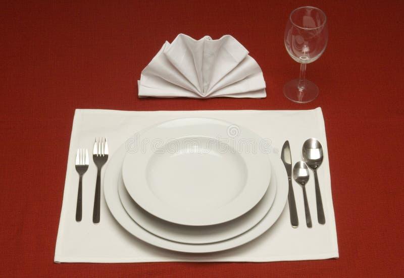 Abendessen-Platz-Einstellung stockfotografie