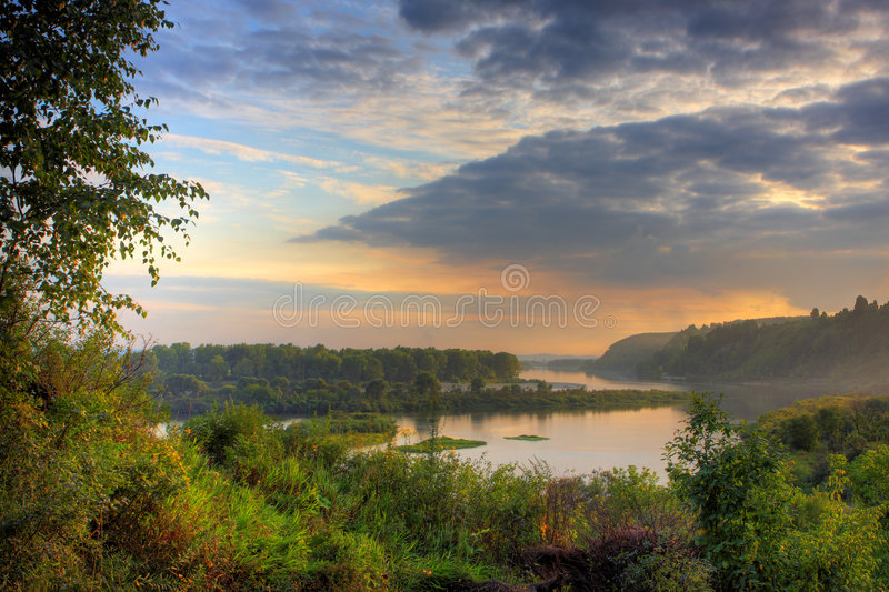 Abendlandschaft stockfoto