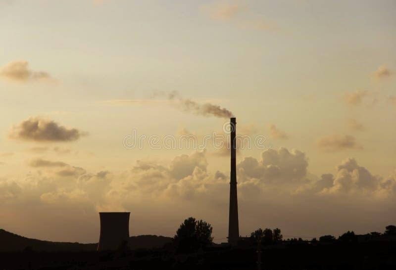 Abendwolken stockfotos