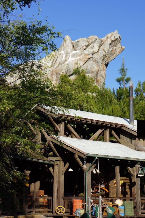 Abenteuer-Graubär-Fluss-Lauffahrt Disneylands Kalifornien lizenzfreie stockbilder