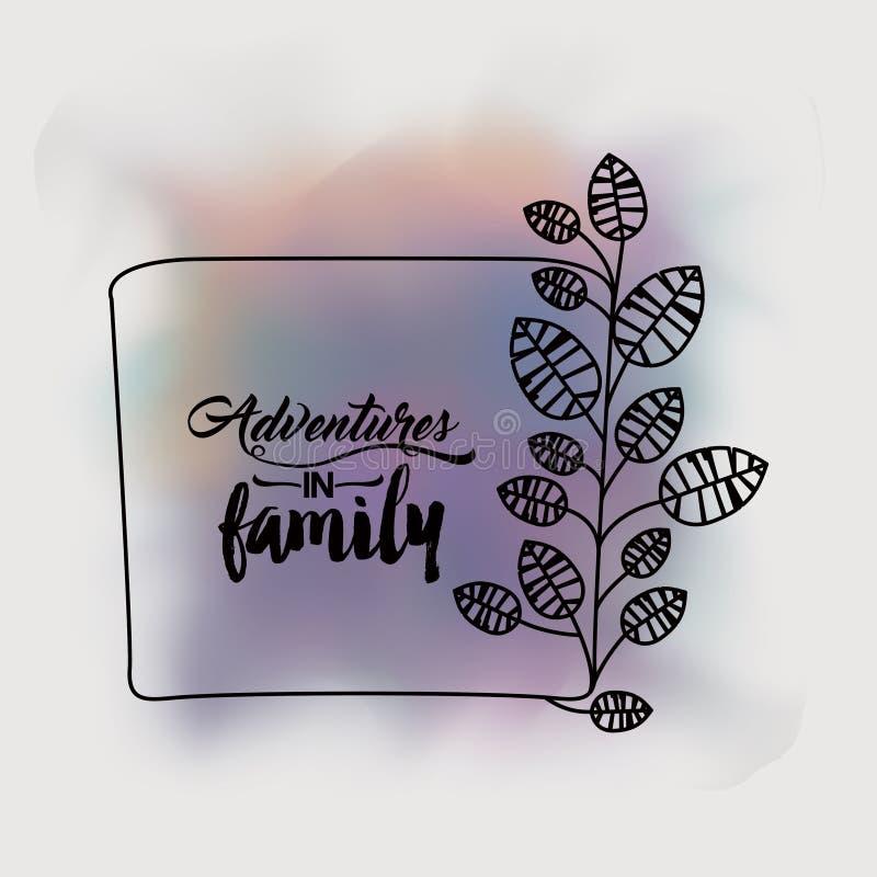 Abenteuer im Familiendesign vektor abbildung