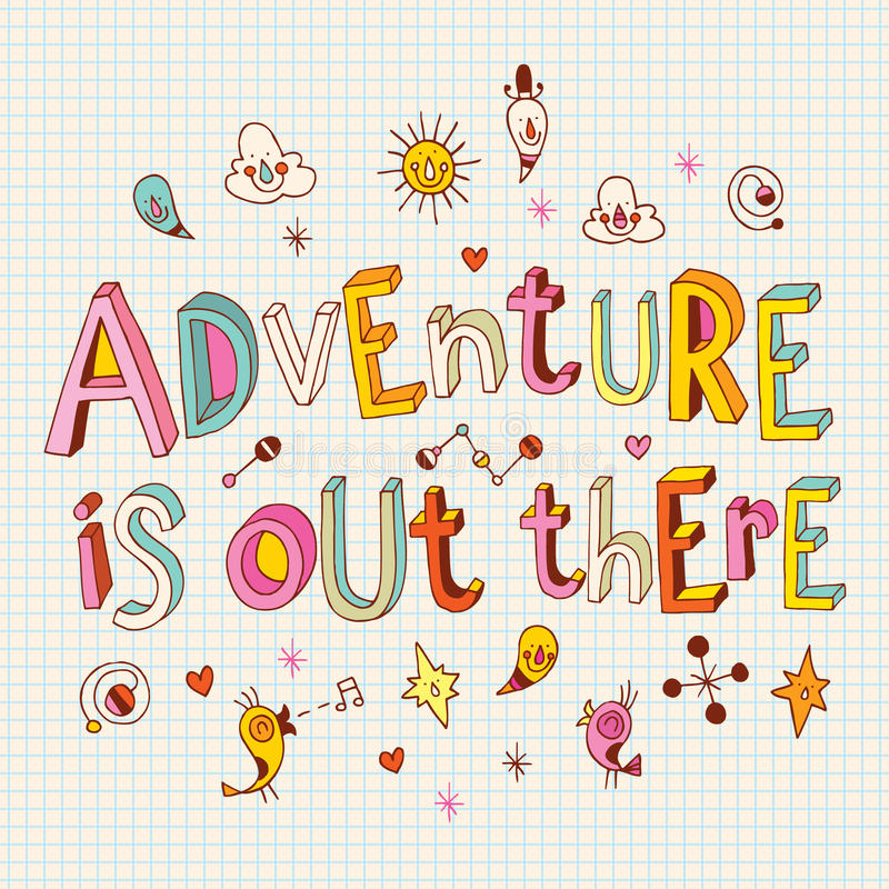 Abenteuer ist dort draussen vektor abbildung