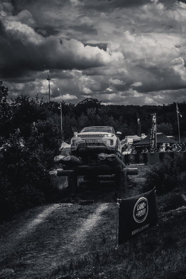 Abenteuer und Messe 4WD nicht für den Straßenverkehr in schlechtem Kissingen stockfoto