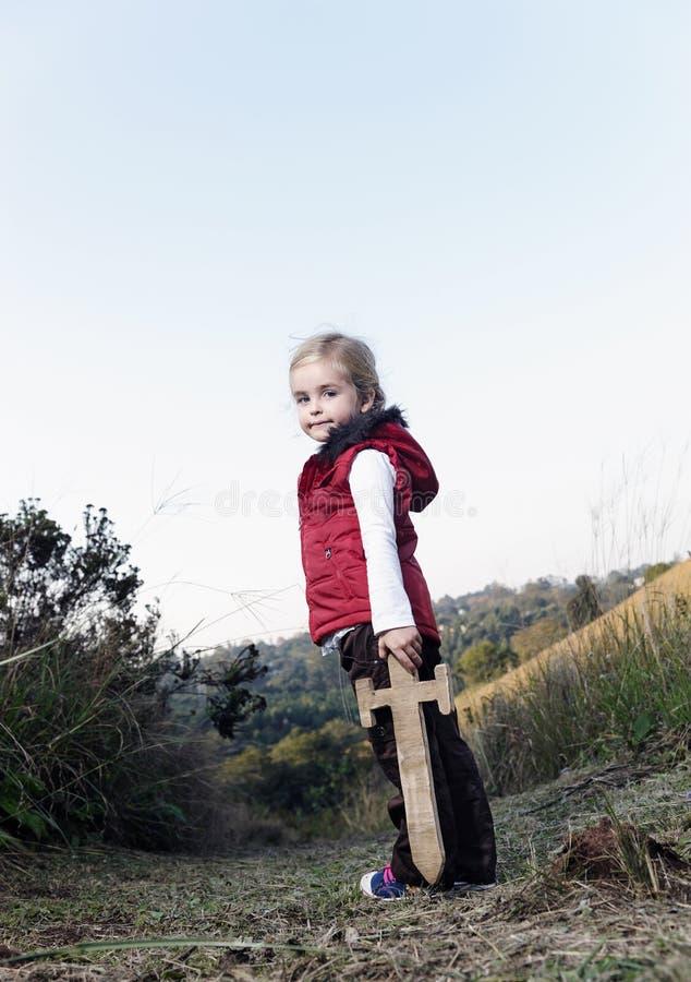 Abenteuermädchen stockfoto