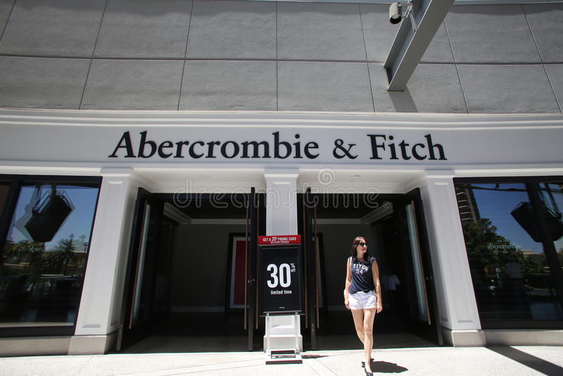 ABERCROMBIE和菲奇衣物 免版税图库摄影