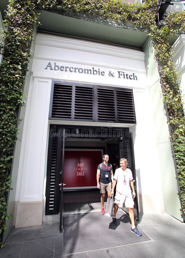 ABERCROMBIE和菲奇衣物 库存图片