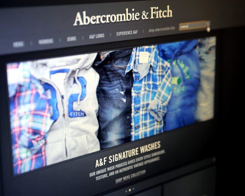 ABERCROMBIE和菲奇衣物 免版税库存图片