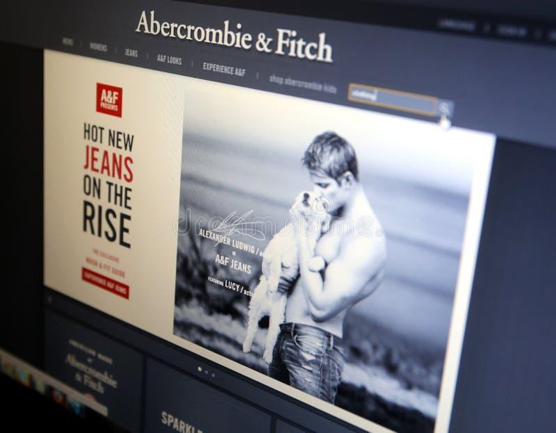 ABERCROMBIE和菲奇衣物 库存照片