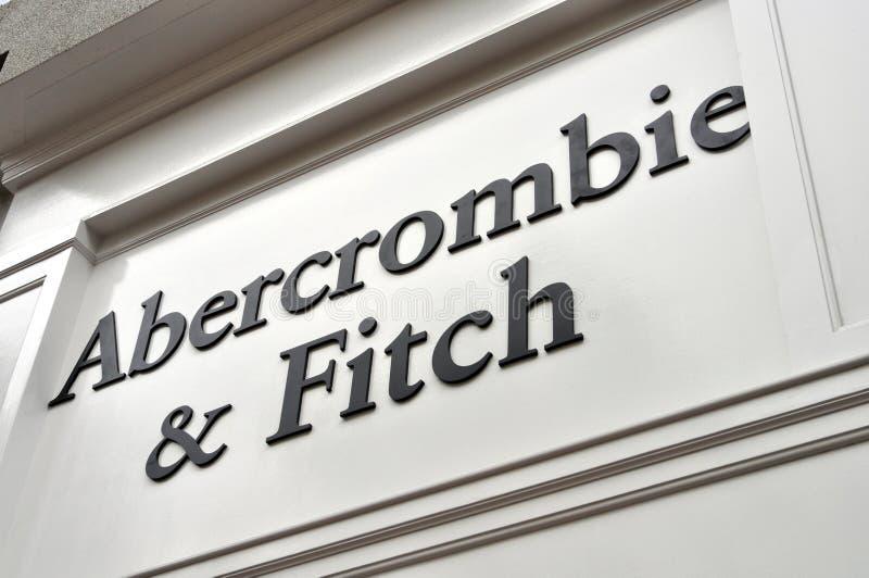 Abercrombie & магазин и знак Fitch стоковые изображения
