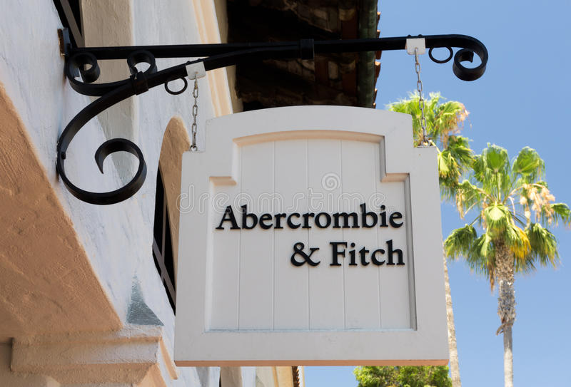 Abercrombie &菲奇商店和标志 免版税图库摄影